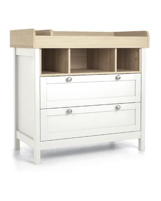 Harwell Dresser Changer White/Oak