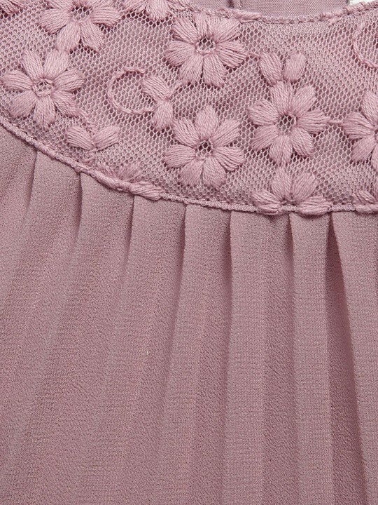 Pleated Dress with Lace Collar Pink- 0-3 image number 3