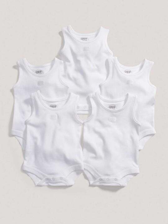 Sleeveless Bodysuits (Set of 5) image number 3