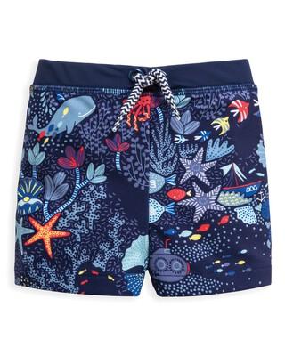 Underwater Print Swim Shorts
