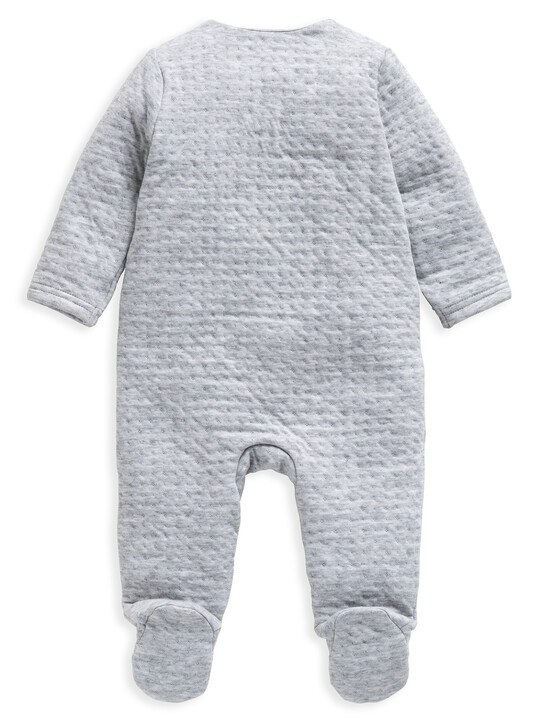 Grey Textured All-In-One with Bib image number 2