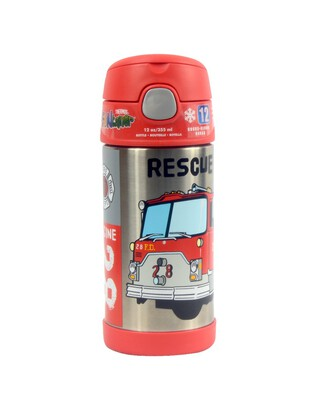 Thermos - Funtainer Bottle Steel Hydration Bottle 355Ml,Rescue Truck
