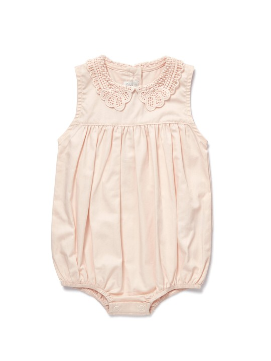 Lace Collar Romper image number 1