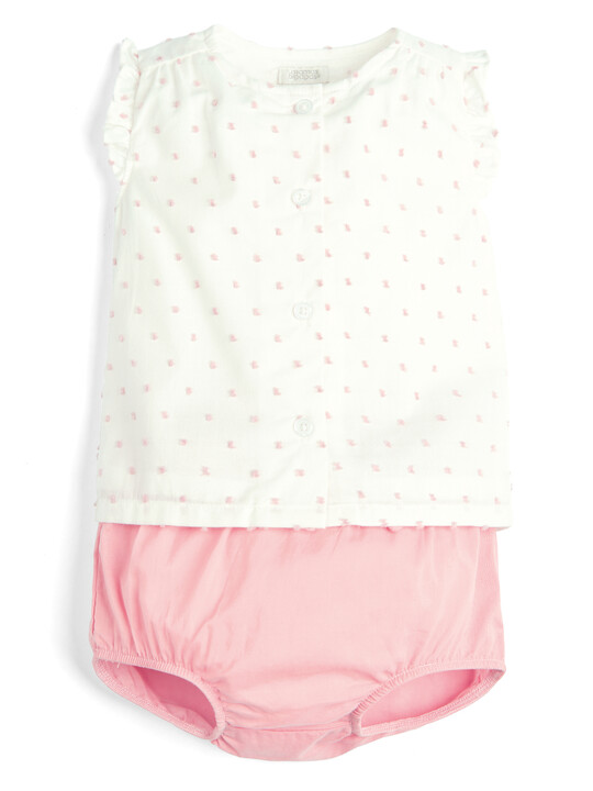 Blouse and Bloomer Shorts - 2 Piece Set image number 1