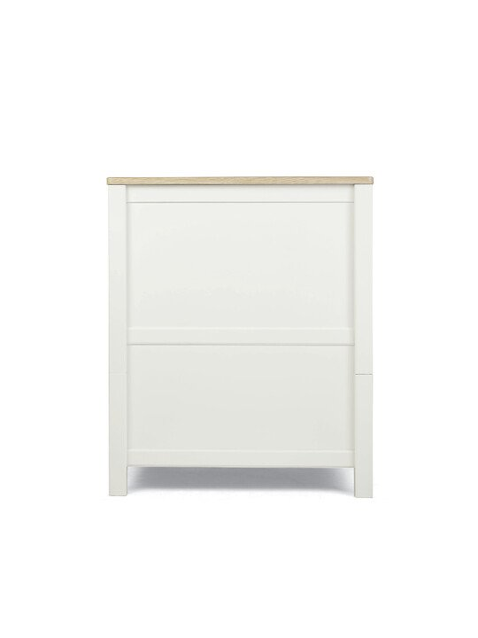 Harwell 4 Piece Cotbed with Dresser Changer, Wardrobe, and Essential Fibre Mattress Set- White image number 7