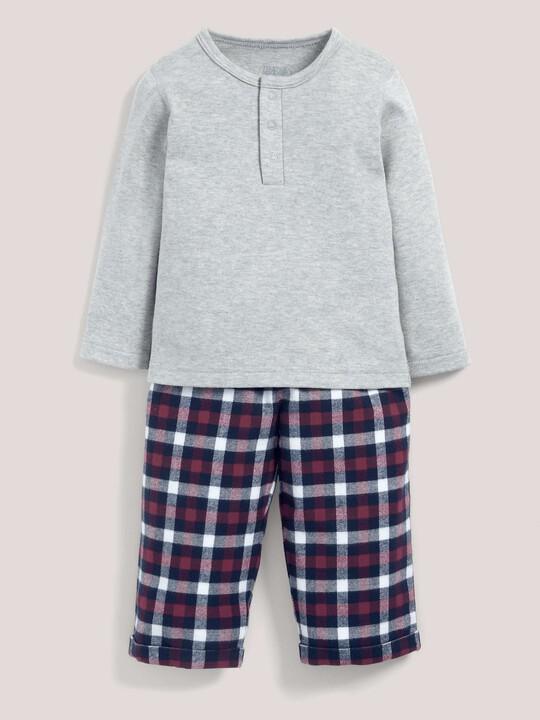 Check Bottom Pyjamas Grey/Navy- 18-24 months image number 1