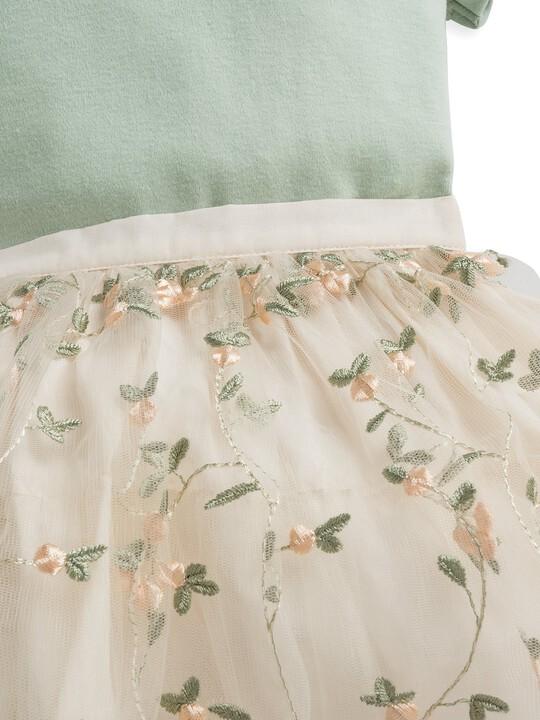 2 Piece Floral Embroidered Skirt & Blouse Set image number 5