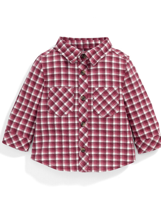 Jersey Checked Shirt image number 1