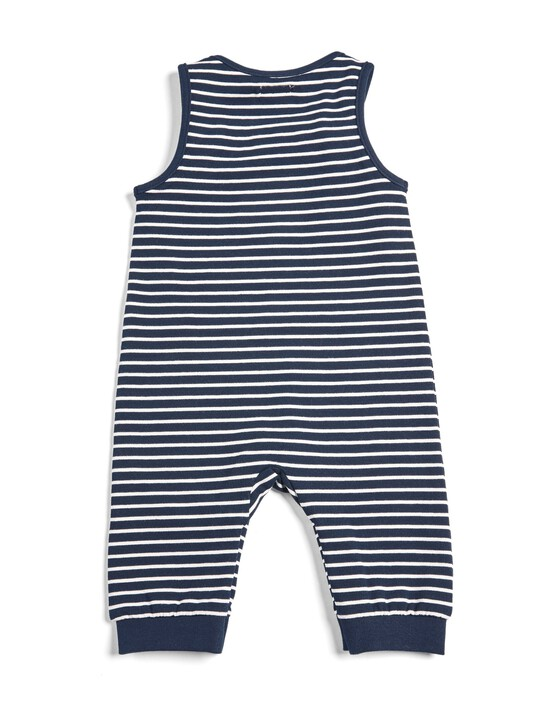 Striped Sweat Dungarees image number 2
