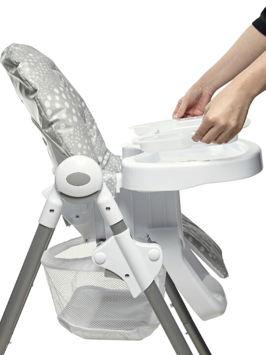 Baby Bud Soft Grey with Snax Highchair Grey Spot image number 6