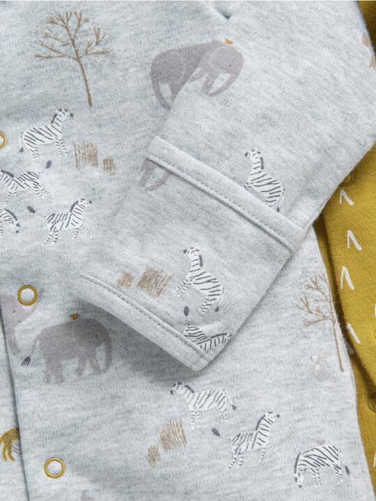 3 Pack Safari Sleepsuits  image number 6