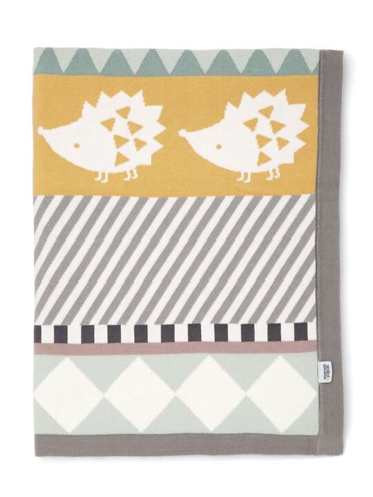 Knitted Blanket - 70 x 90cm - Hedgehog image number 1