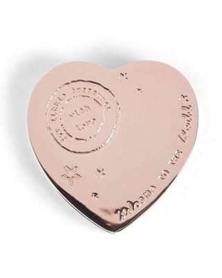 Rose Gold - Heart Trinket Box