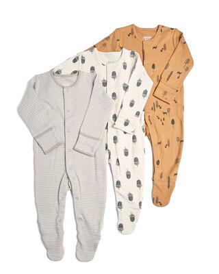 3 Pack ofNature Sleepsuits