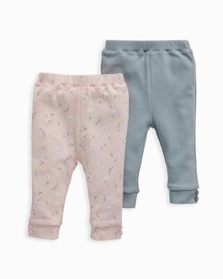 Pink Floral Leggings 2 Pack