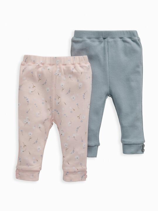 Pink Floral Leggings 2 Pack image number 1