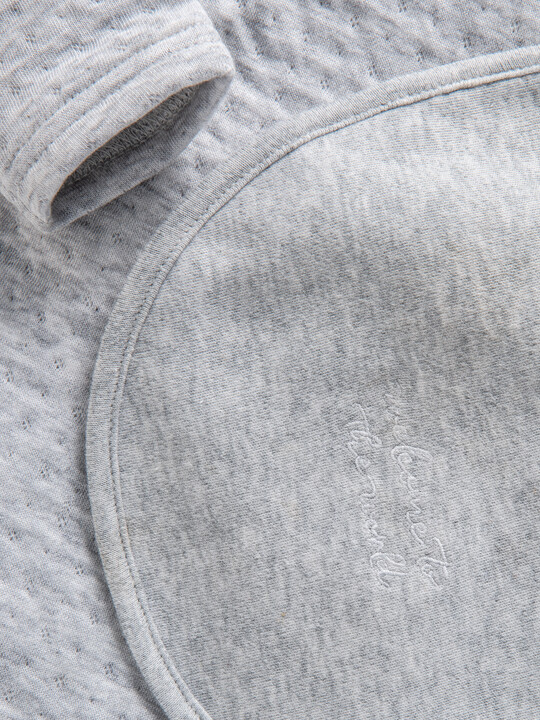 Grey Textured All-In-One with Bib image number 3