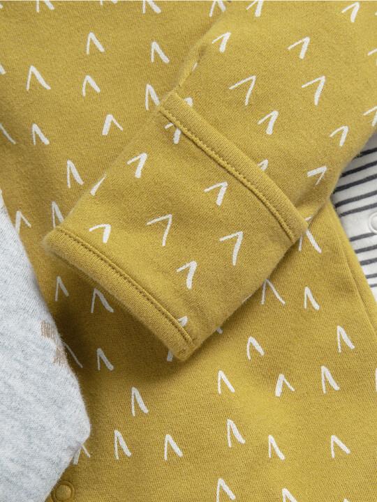 3 Pack Safari Sleepsuits  image number 3