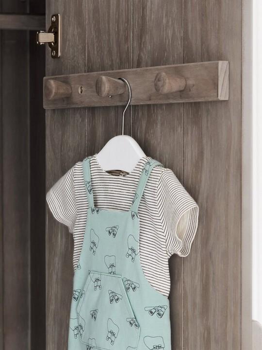 Franklin 2 Door Kids Wardrobe with Drawer - Grey Wash image number 4
