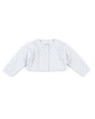 Fine Knit Cardigan - White