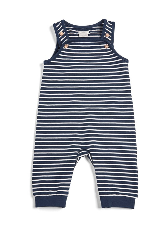 Striped Sweat Dungarees image number 1