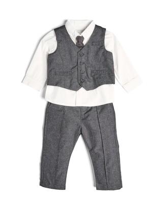 4 Piece Suit Set Grey