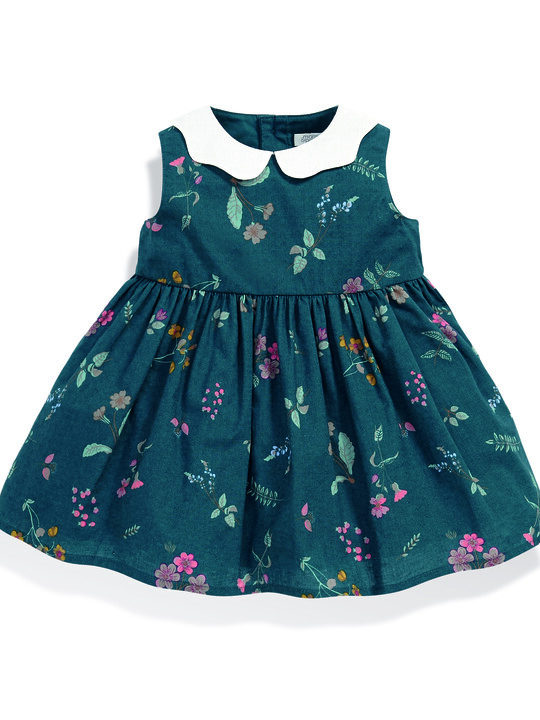 Floral Dress with Collar image number 1