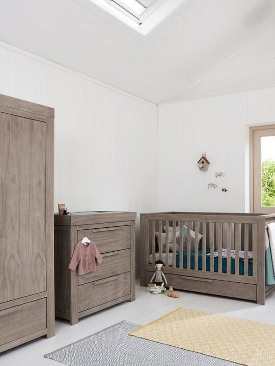Franklin 2 Door Kids Wardrobe with Drawer - Grey Wash image number 7