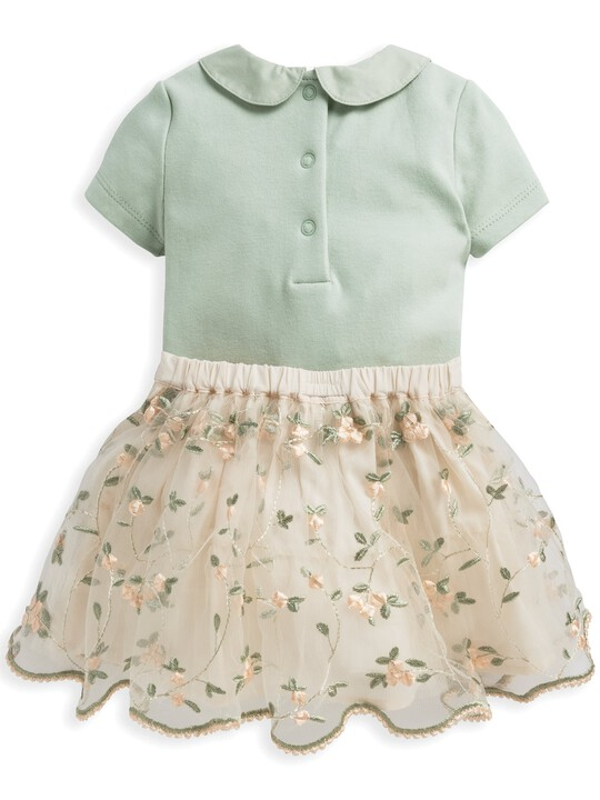 2 Piece Floral Embroidered Skirt & Blouse Set image number 2