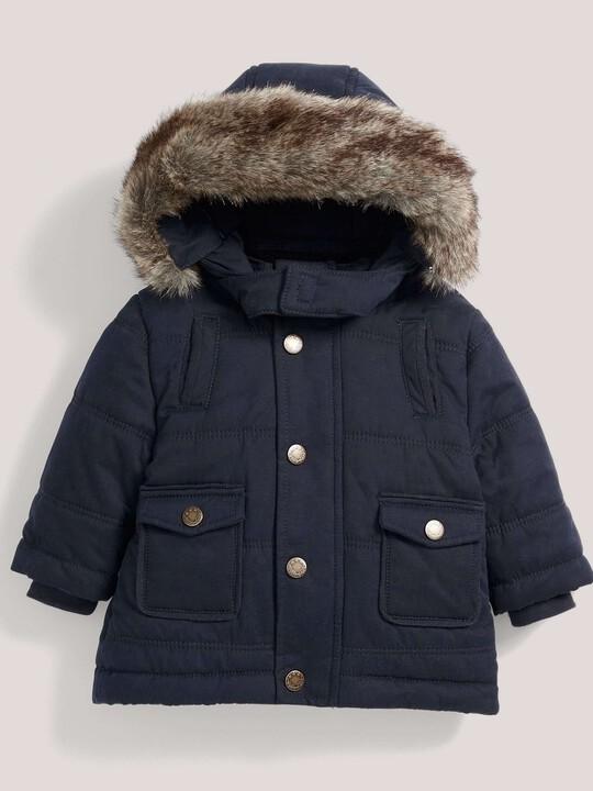 Quilted Fur Trim Coat image number 1