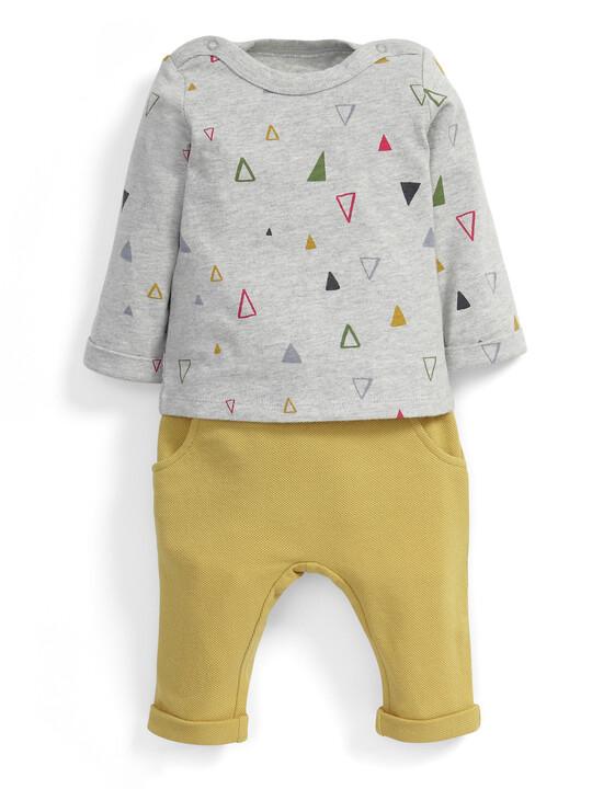 Triangle Print T-Shirt & Harem Joggers Set image number 1