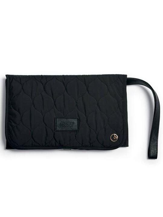 Clutch Bag - Black Quilted image number 1