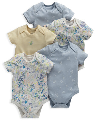 Floral Bunny Bodysuits 5 Pack