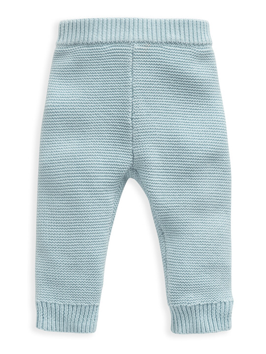 Blue Knitted 2 Piece Set image number 3