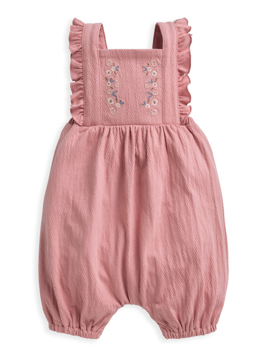 Embroidered Dungaree & Top 2 Piece Set image number 4