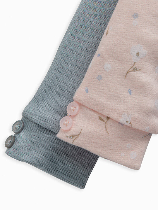 Pink Floral Leggings 2 Pack image number 3