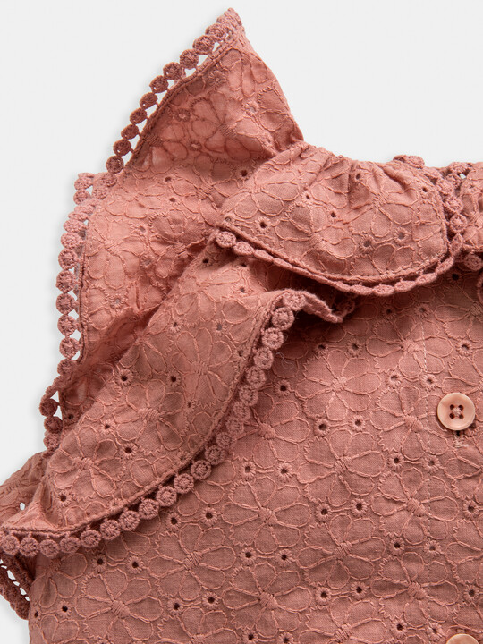 Pink Broderie Romper image number 3