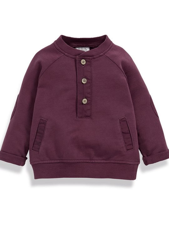 Woven Jersey Sweater image number 1