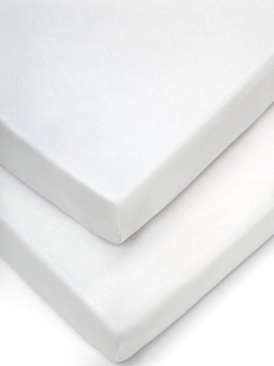 Crib Fitted Sheets (Pack of 2) - White image number 1
