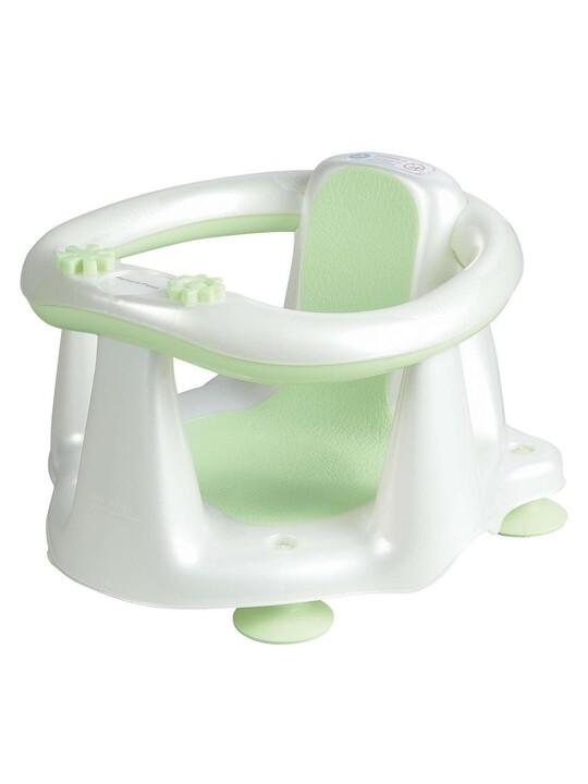 Acqua Bambino Bath Seat  - Pearl White / Soft Lime image number 1