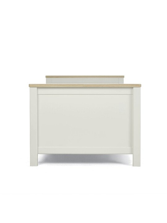 Harwell 4 Piece Cotbed with Dresser Changer, Wardrobe, and Essential Fibre Mattress Set- White image number 9