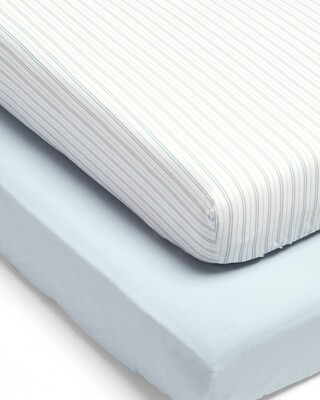 Millie & Boris Fitted Sheets (2 Pack) - Blue
