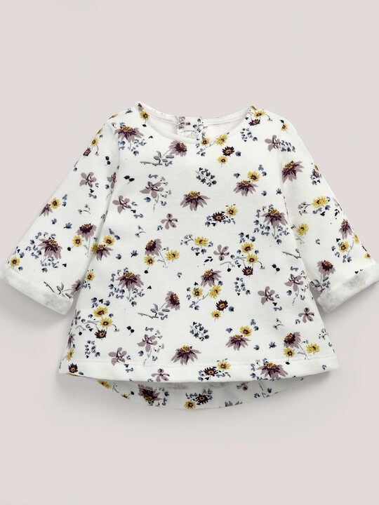 Floral Print Sweater Cream- 0-3 image number 2