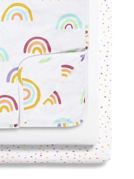 3pc Crib Bedding Set – Colour Rainbow image number 1