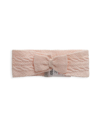 Pink Knitted Bow Headband