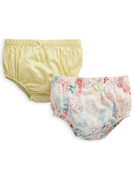 2 Pack Floral Print Knickers image number 1