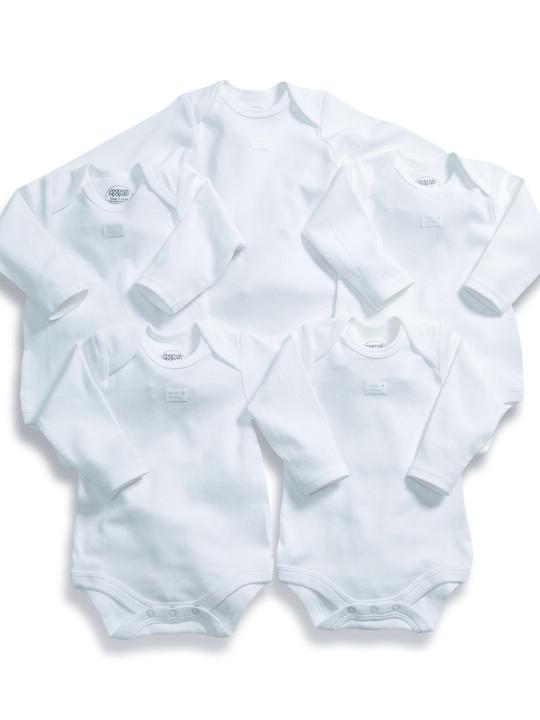 Long Sleeved Bodysuits (Set of 5) image number 1