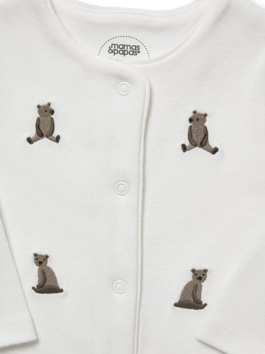 Embroidered Bear Romper image number 3