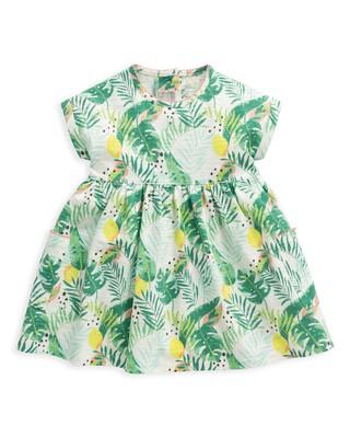 Tropical Jersey Print Dress