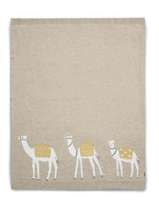 Knitted Blanket (70x90cm) - Sand Camel image number 1